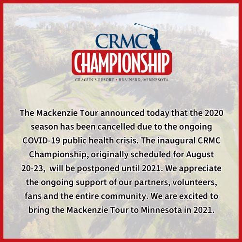 CRMC Championship postponed until 2021